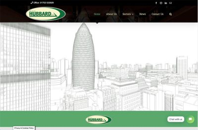 Hubbards - Construction Company Website