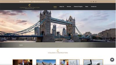 Construction Websites - Examples of our professional Websites